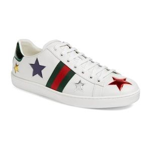 Gucci New Ace Star Sneaker Size 36!!